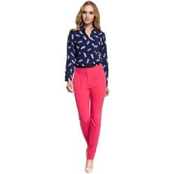 Kleidung Damen Fließende Hosen/ Haremshosen Moe M303 Hose mit geradem Bein - rosa