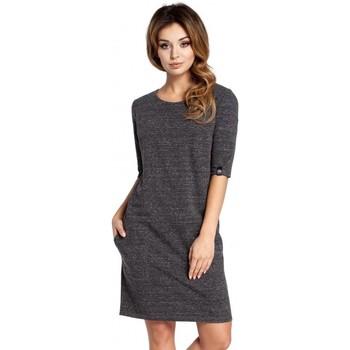 Kleidung Damen Kleider Be B033 Box Etuikleid - graphit