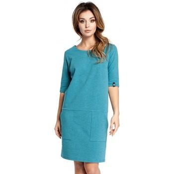 Kleidung Damen Kurze Kleider Be B033 Box Etuikleid - smaragdgrün