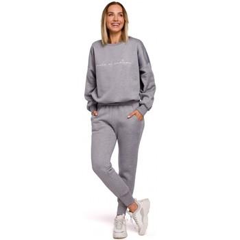 Kleidung Damen Jogginghosen Moe M535 Jogginghose mit Gummizug in der Taille - Stahl
