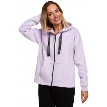 Kleidung Damen Sweatshirts Moe M550 Kapuzenpullover mit Reißverschluss - fliederfarben