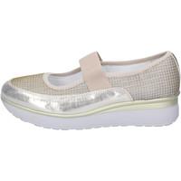 Schuhe Damen Ballerinas Cinzia Imprint BJ243 Platin