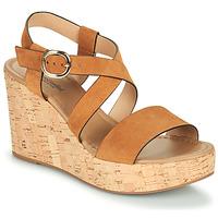 Schuhe Damen Sandalen / Sandaletten NeroGiardini JIPPO Cognac