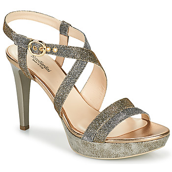 Schuhe Damen Sandalen / Sandaletten NeroGiardini KARKI Grau / Gold