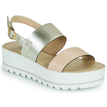 Schuhe Damen Sandalen / Sandaletten NeroGiardini SABRI Weiss / Gold