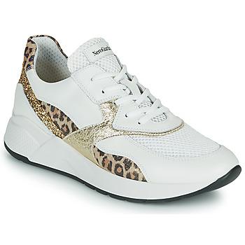Schuhe Damen Sneaker Low NeroGiardini FIDEL Weiss / Leopard
