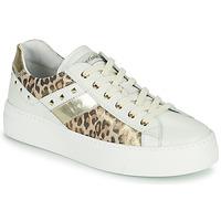 Schuhe Damen Sneaker Low NeroGiardini MANO Weiss / Leopard