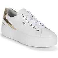 Schuhe Damen Sneaker Low NeroGiardini LAITO Weiss / Gold