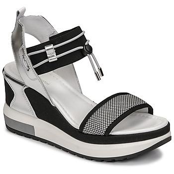 Schuhe Damen Sandalen / Sandaletten NeroGiardini CAMINO Schwarz / Silbern