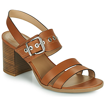 Schuhe Damen Sandalen / Sandaletten NeroGiardini GHILLO Cognac