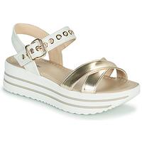 Schuhe Damen Sandalen / Sandaletten NeroGiardini TIMMA Weiss / Gold