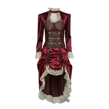 Kleidung Damen Verkleidungen Fun Costumes COSTUME ADULTE LADY STEAMPUNK Multicolor