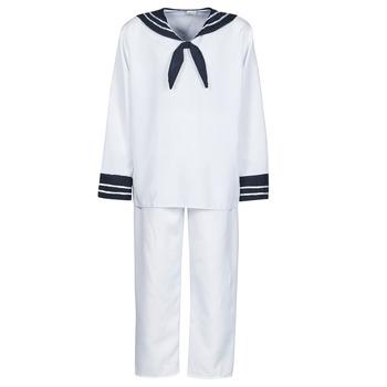 Kleidung Herren Verkleidungen Fun Costumes COSTUME ADULTE MARIN BLANC Weiss