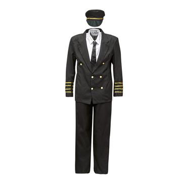 Kleidung Herren Verkleidungen Fun Costumes COSTUME ADULTE PILOTE Multicolor