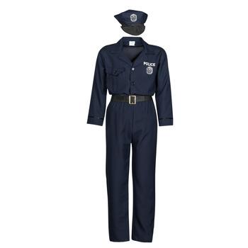 Kleidung Herren Verkleidungen Fun Costumes COSTUME ADULTE OFFICIER DE POLICE Multicolor