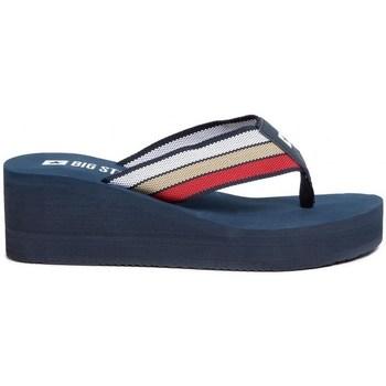 Schuhe Damen Zehensandalen Big Star FF274A301 Dunkelblau