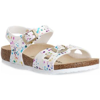 Schuhe Kinder Sandalen / Sandaletten Birkenstock RIO CONFETTI WHITE CAL S Bianco