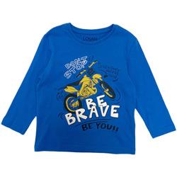 Kleidung Jungen Langarmshirts Losan 025-1201AL Blau