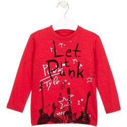 Kleidung Kinder Langarmshirts Losan 026-1001AL Rot