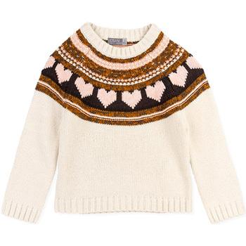 Kleidung Mädchen Pullover Losan 026-5001AL Weiß