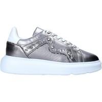 Schuhe Damen Sneaker Manila Grace S016LW Silber