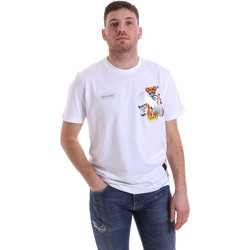 Kleidung Herren T-Shirts Disclaimer 21EDS50512 Weiß
