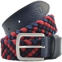 Accessoires Herren Gürtel Seajure Marineblauer und roter geflochtener Gürtel Rot und Marineblau