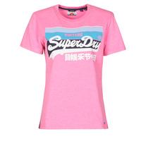 Kleidung Damen T-Shirts Superdry VL CALI TEE 181 Rose