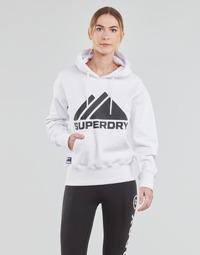 Kleidung Damen Sweatshirts Superdry MOUNTAIN SPORT MONO HOOD Weiss