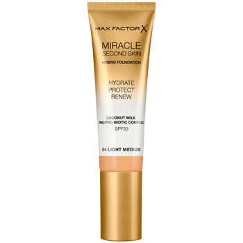 Beauty Damen Make-up & Foundation  Max Factor Miracle Touch Second Skin Found.spf20 4-light Medium 30 ml
