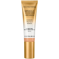 Beauty Damen Make-up & Foundation  Max Factor Miracle Touch Second Skin Found.spf20 7-neutral Medium 30 m