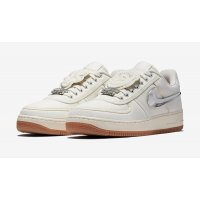 Schuhe Sneaker Low Nike Air Force 1 x Travis Scott Sail Sail/Sail