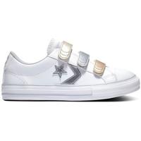 Schuhe Kinder Sneaker Low Converse Star player 3v ox Weiss