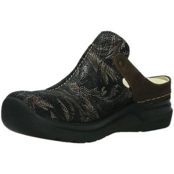Schuhe Damen Pantoletten / Clogs Wolky Pantoletten Holland Antique palm suede 0660017-000 schwarz
