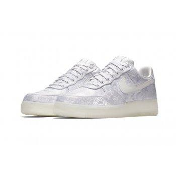 Schuhe Sneaker Low Nike Air Force 1 Low x CLOT Premium White/White-White