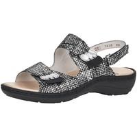 Schuhe Damen Pantoletten / Clogs Remonte Dorndorf Pantoletten D763802 D76 D7638-02 schwarz