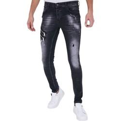 Kleidung Herren Slim Fit Jeans True Rise Jeans Hosen Slim A Schwarz