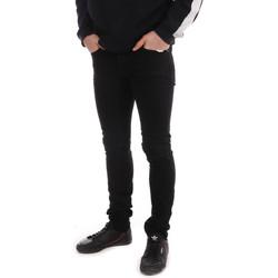 Kleidung Herren Slim Fit Jeans Paname Brothers PB-JIMMY Schwarz