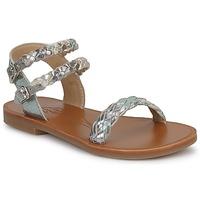 Schuhe Mädchen Sandalen / Sandaletten Pom d'Api KOH BI WOVEN Camouflage / Glitterfarbe