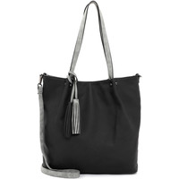 Taschen Damen Shopper / Einkaufstasche Emily & Noah Shopper Bag in Bag Surprise black grey 108