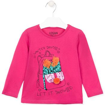 Kleidung Mädchen Langarmshirts Losan 026-1201AL Rosa