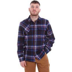 Kleidung Herren Langärmelige Hemden Dickies DK520352EL01 Blau