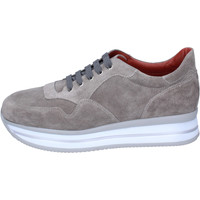 Schuhe Damen Sneaker Low Triver Flight Sneakers Wildleder Beige