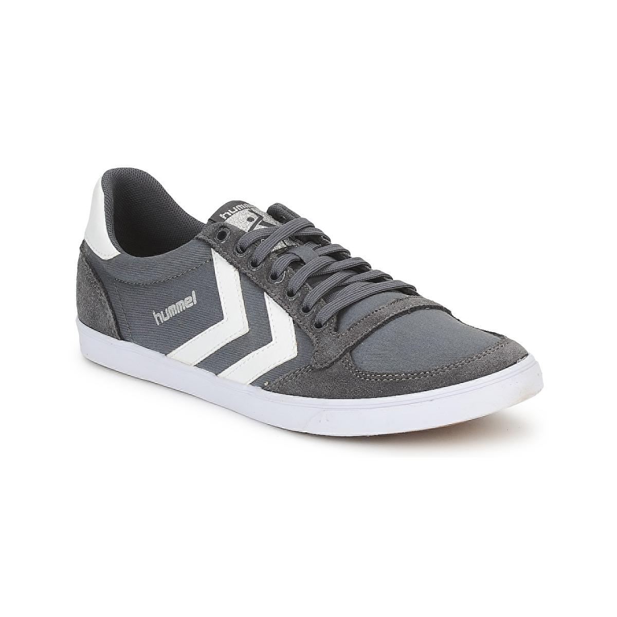 Hummel TEN STAR LOW CANVAS Grau / Weiss - Kostenloser Versand bei Spartoode ! - Schuhe Sneaker Low  51,99 €