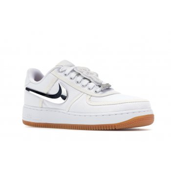 Schuhe Sneaker Low Nike Air Force 1 Low Travis Scott White White/White-White