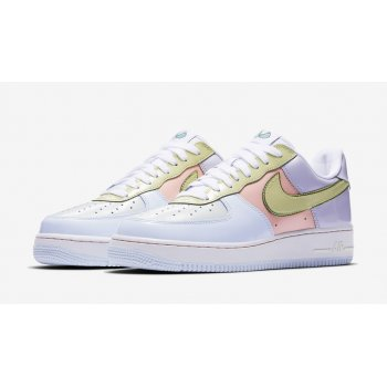 Schuhe Sneaker Low Nike Air Force 1 Low Easter Titanium/Lime Ice-Storm Pink