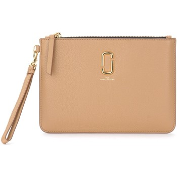 Taschen Damen Geldtasche / Handtasche Marc Jacobs The  Clutch-Tasche The Softshot in Leder Beige Beige