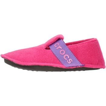 Schuhe Kinder Hausschuhe Crocs 205349 Fuxia