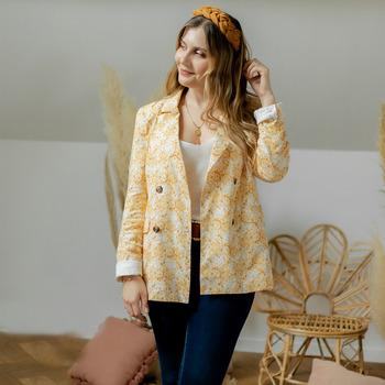 Kleidung Damen Jacken / Blazers Céleste ALIZE Gelb / Weiss