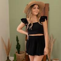 Kleidung Damen Shorts / Bermudas Céleste MAGNOLIA Schwarz
